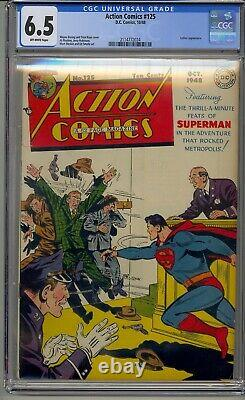 Action Comics #125 Cgc 6.5 Golden Age Superman Luthor Apparence