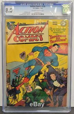 Action Comics # 126 Cgc 8.0 Superman 1948 Copie La Mieux Notée