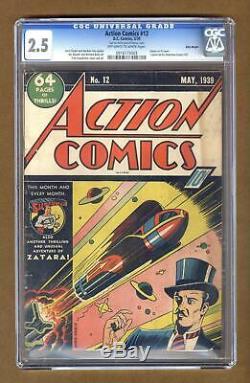 Action Comics # 12 Cgc 2.5 1939 0916173003