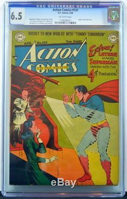 Action Comics # 131 Cgc 6.5 Superman 1949 Luthor Cover & Story 2e Plus Haut Grade