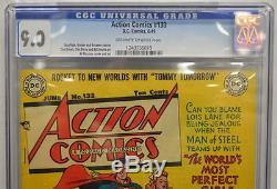 Action Comics # 133 Cgc 9.0 Superman 1949 La Plus Haute Copie