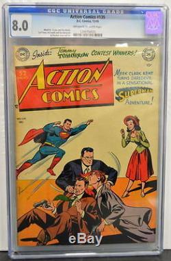 Action Comics # 139 Cgc 8,0 Superman 1949 Copie Le Plus Gradé