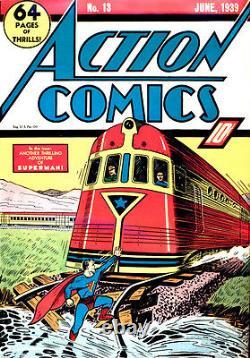 Action Comics #13 Juin 1939 Couverture De Train Classique 4ème Superman Cover Cgc