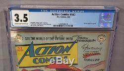 Action Comics # 140 (golden Age Superman) Cgc 3.5 Vg- DC Comics 1950
