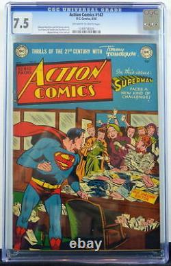 Action Comics #147 Cgc 7.5 Superman 1950 3ème Plus Haut Grade