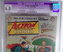 Action Comics #150 Cgc 6.0 Superman Couvrir 1950