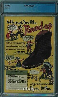 Action Comics #151 Cgc 8.5 4ème Meilleure Copie Cgc Pages Blanches 1950
