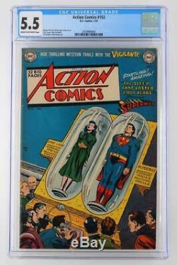 Action Comics # 152 Cgc 5.5 DC 1951 Superman Fn-