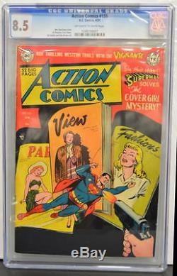 Action Comics # 155 Cgc 8.5 Superman 1951 2e Copie La Mieux Notée