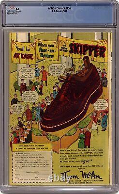 Action Comics #156 Cgc 4.5 1951 1396947017