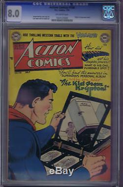 Action Comics # 158 DC 1951, Cgc 8.0 (très Fin) Origin Numéro