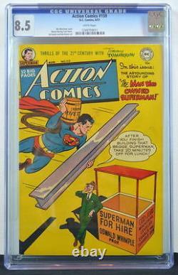 Action Comics #159 Cgc 8.5 Superman 1951 3ème Copie La Plus Haute