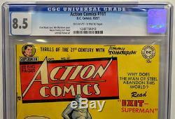 Action Comics # 161 Cgc 8.5 Superman 1951 2e Copie La Mieux Notée
