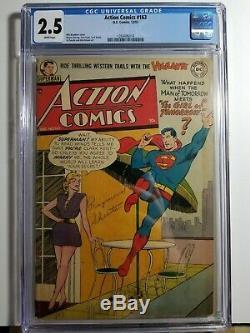 Action Comics 163 Cgc 2.5 Pages Blanches! Boutique Avec Buzzards Ol ' Et Sauver