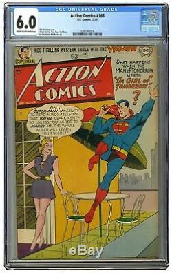 Action Comics 163 Cgc 6.0 C / Ow. Superman! Pretty Girl (aussi Proche Que DC Arrive À Gga!)