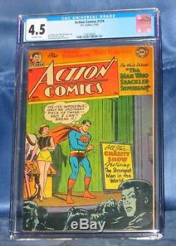 Action Comics # 174 Cgc 4.5 DC Comics 1952 Win Couverture De Wayne Mortimer Art Boring