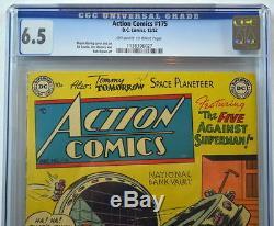 Action Comics # 175 Cgc 6.5 Superman 1952 3 Plus Haut Niveau Atteint
