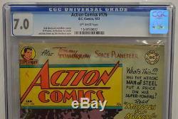 Action Comics # 176 Cgc 7.0 Superman 1953 Copie La Plus Élevée Graded