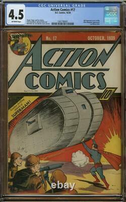 Action Comics #17 Cgc 4.5 6ème Supermnan Cover
