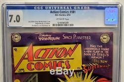 Action Comics # 181 Cgc 7.0 Superman 1953 Plus Haut Classement