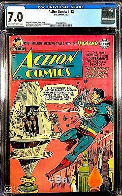 Action Comics # 182 Cgc 7.0 Owithw 4eme La Plus Haute Question Graded Mettant En Vedette Superman