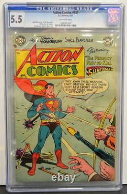 Action Comics #183 Cgc 5.5 Superman 1953 4ème Plus Haut Classé