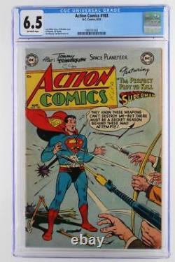 Action Comics #183 Cgc 6.5 Fn+ DC 1953 -superman- 3ème Grade Le Plus Élevé