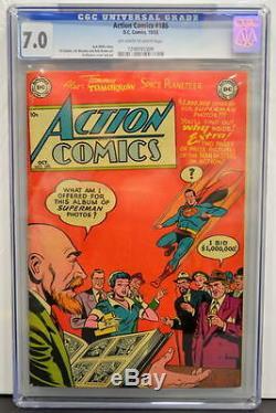Action Comics # 185 Cgc 7.0 Superman 1953 2e Plus Gradé Copie