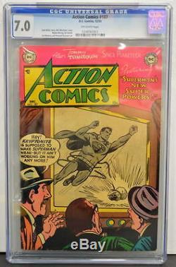 Action Comics # 187 Cgc 7.0 Superman 1953 3ème Copie La Mieux Notée