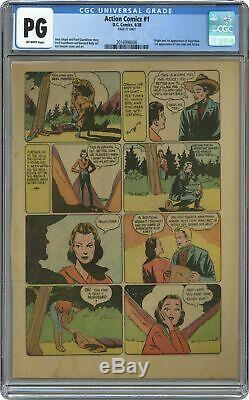 Action Comics (1938 Dc) 1 Cgc Ge 27ème Page Uniquement 2016998006