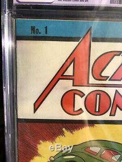 Action Comics # 1 1938 Cgc 9.4 R Pages Blanches Copie La Mieux Notée