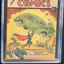 Action Comics #1 (1976) Cgc 9.4 10 Cent Sleeping Bag Réimpression Superman