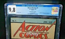 Action Comics #1 1976 Cgc 9.8 Nm/m Graded Safeguard Promotional Reprint