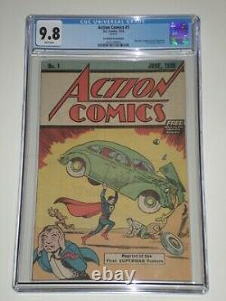 Action Comics 1 (1976 Dc) Cgc 9.8 Safeguard Promotional Reprint, 1er Superman