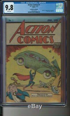Action Comics # 1 1976 Safeguard Cgc 9.8 Édition Reprint