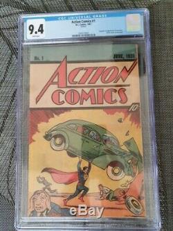 Action Comics # 1 1987 Reprint Cgc 9.4 DC Comics