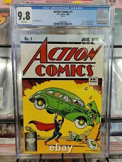 Action Comics #1 (1988) Cgc Grade 9.8 Réimpression Édition Ventes Directes