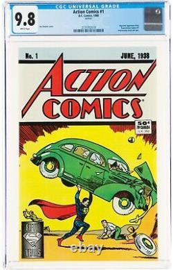 Action Comics #1 (1988 DC Réimpression) Cgc 9.8 1ère Apparition De Superman Nestlé Ed