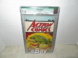 Action Comics # 1 9.8 Cgc Signé Par Superman Créateur Jerry Siegel Avec Coa