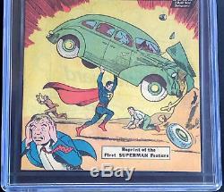 Action Comics # 1 9.8 Promotion De La Campagne De Sauvegarde De La Ccég 1976 Réimpression Du 1er Superman