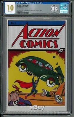 Action Comics # 1 Cgc 10,0 35 Grammes Feuille D'argent DC Superman Premier 1st Release Fr