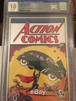 Action Comics 1 Cgc 10.0 Premier Superman 9.8 9.0 Variante Feuille D'argent DC Film