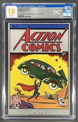 Action Comics #1 Cgc 10.0 Pure Silver Foil (2018) Première Version Rare