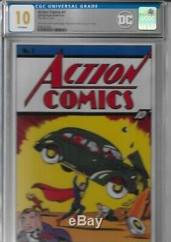 Action Comics # 1 Cgc 10 Joyaux Silver Foil Superman 1ère Sortie Cgc 10.0