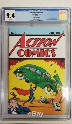 Action Comics # 1 Cgc 9.4 Comic Book Loot Crate Exclusif Variante Superman 2017