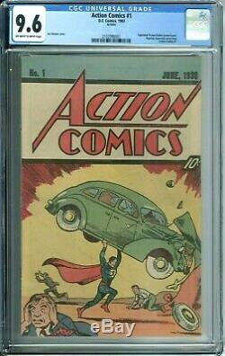 Action Comics 1 Cgc 9.6 1er Superman 1983 Reprint Beurre D'arachide Promotion Rare