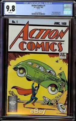 Action Comics # 1 Cgc 9,8 Blanc (dc, 1988) Réimpression Du 50e Anniversaire De L'action 1