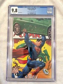 Action Comics # 1 Cgc 9.8 Couverture Spéciale Virgin Edition Édition Spéciale En Acétate