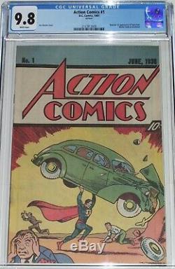 Action Comics # 1 Cgc 9,8 Nestle Quik Promotionnelle De 1987 Superman 1er Réimprimer