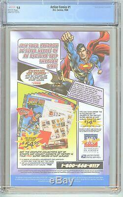 Action Comics # 1 Cgc 9.8 Pages Blanches 2061511015 Reprint Usps Stamp